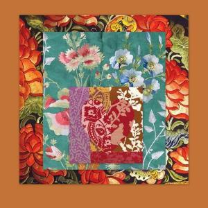 PRETTY FLORAL COLLAGE by Linda Arthurs