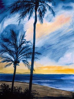 Blue Tropic Nights I by Linda Baliko