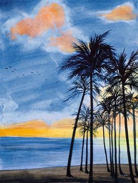 Blue Tropic Nights II by Linda Baliko