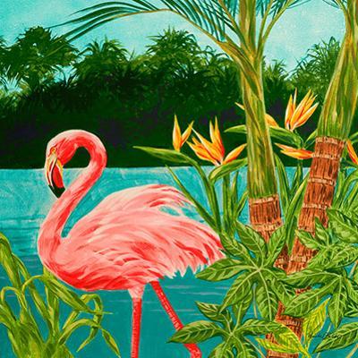 Hot Tropical Flamingo I by Linda Baliko