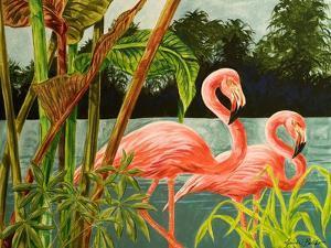 Tropical Flamingo II by Linda Baliko