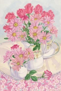 Roses and Chrysanthemums, 1996 by Linda Benton