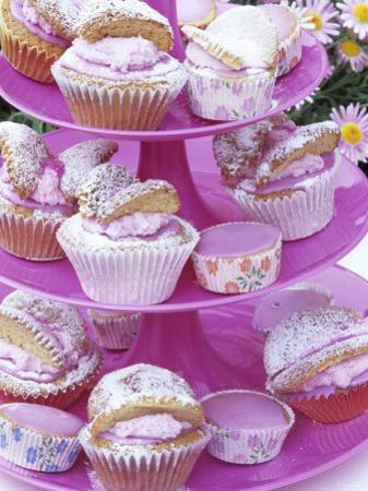 Butterfly Buns on Tiered Stand (UK) by Linda Burgess