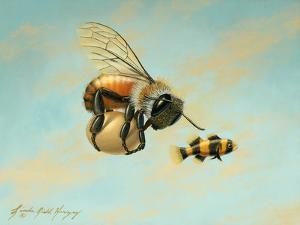 Beeing Egg Snatched by Linda Ridd Herzog
