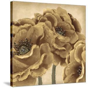Golden Peony II by Linda Wood