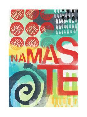 Abstract Namaste by Linda Woods