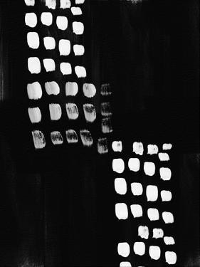 Black and White Abstract by Linda Woods