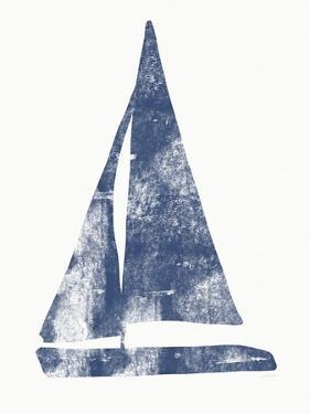 Blue Sail Boat 2 by Linda Woods