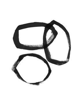Brushstroke Circles III by Linda Woods