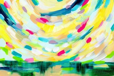 Colorful Uprising III by Linda Woods