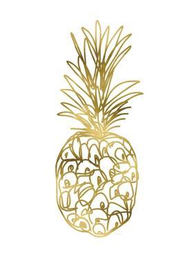Golden Pineapple 2 by Linda Woods