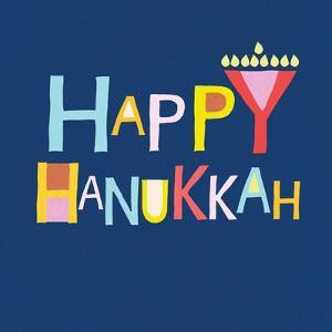 Happy Hanukkah Menorah by Linda Woods