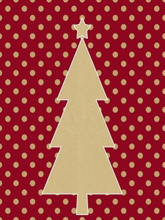 Kraft Tree on Polka Dot by Linda Woods
