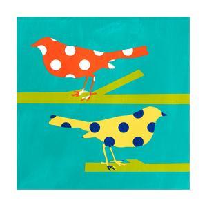 Orange and Yellow Bird by Linda Woods