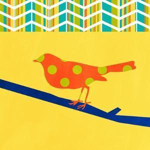 Orange Bird by Linda Woods