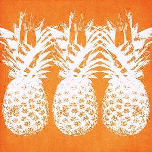Orange Pineapples by Linda Woods