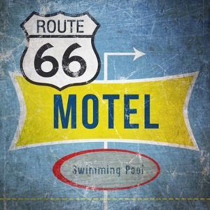 Route66 Motel by Linda Woods