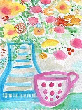 Tea and Flowers III by Linda Woods