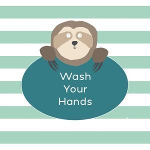 Wash Hands Sloth by Linda Woods