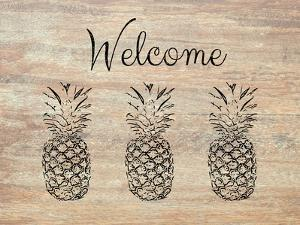 Welcome on Wood by Linda Woods