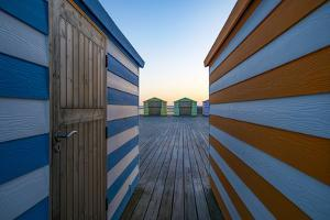 Beach Huts on the Pier by Linda Wride