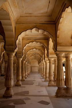 Arches In Amer Fort In Jaipur, India by Lindsay Daniels