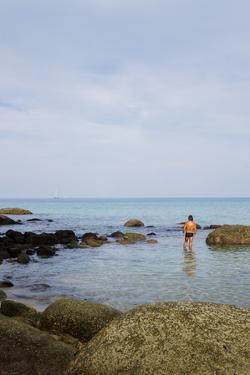 Man In A Speedo In Phuket, Thailand by Lindsay Daniels