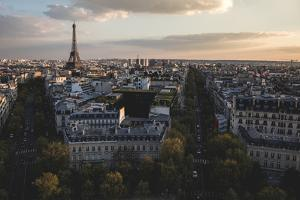 Paris Skyline From The Arc De Triomphe by Lindsay Daniels