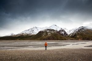 Person Looking At River In Alaska by Lindsay Daniels