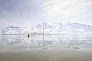 Rebekah Richins Kayaking In The Great Salt Lake by Lindsay Daniels