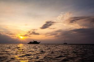 Sunset Near Phi Phi Islands In Thailand by Lindsay Daniels