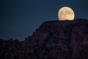 Super Moon Over Utah Mountains by Lindsay Daniels