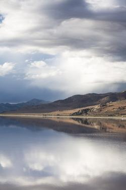 The Great Salt Lake Reflection Of Mountains by Lindsay Daniels