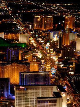 Scenic Aerial From Blimp, Las Vegas, Nevada by Lindsay Hebberd