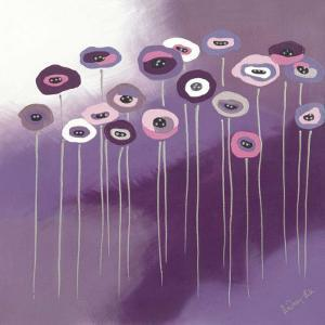 Purple Flowers I by Lindsay Hill