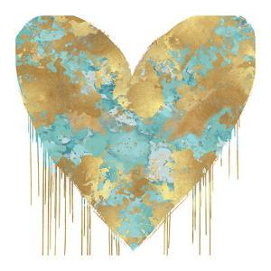 Big Hearted Aqua and Gold by Lindsay Rodgers