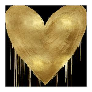 Big Hearted Gold on Black by Lindsay Rodgers