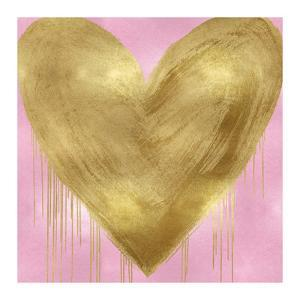 Big Hearted Gold on Pink by Lindsay Rodgers