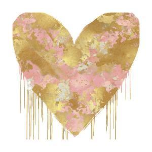 Big Hearted Pink and Gold by Lindsay Rodgers