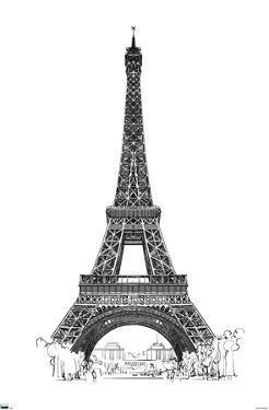 Line Art - Eiffel Tower