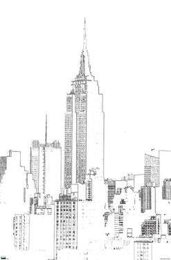 Line Art - New York Skyline
