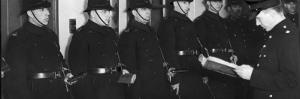 Line of Policemen at Rollcall