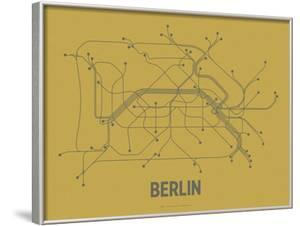 Berlin (Ochre & Gunmetal Gray) by Line Posters