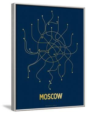 Moscow (Navy & Gold) by Line Posters