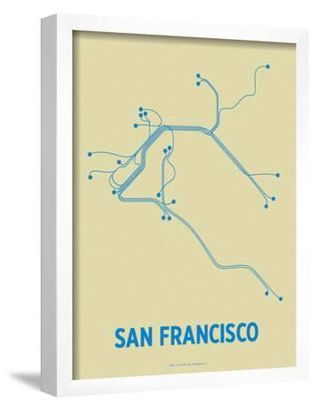 San Francisco (Cement & Blue) by Line Posters