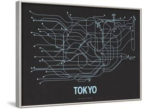 Tokyo (Black Licorice & Light Blue) by Line Posters