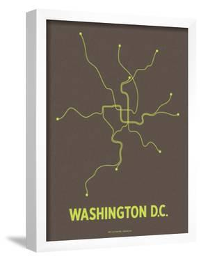 Washington D.C. (Charcoal Brown & Lime) by Line Posters