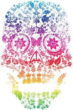 Day of the Dead Sugar Skull Design by lineartestpilot