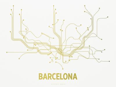 Barcelona Screen Print White