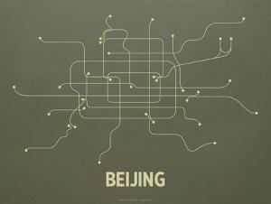 Beijing Screen Print Olive by LinePosters